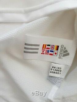 Camiseta Real Madrid 2004 signed shirt Zidane, Ronaldo, Beckham, Raul jersey COA