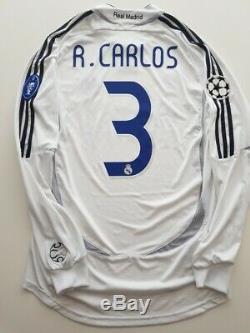 Camiseta Real Madrid 2006 2007 Roberto Carlos shirt jersey M Brasil