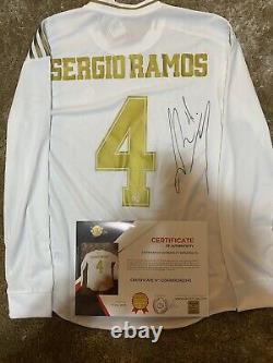 Camiseta Sergio Ramos Real Madrid Firmada COA Jersey Certificado Match Issue
