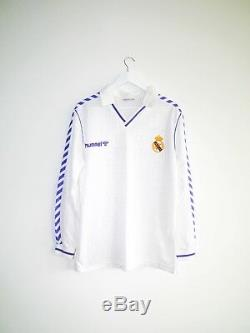 Camiseta vintage futbol soccer Real Madrid HUMMEL 1989 1990 shirt jersey