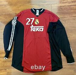 Casillas, 1999-2000 Real Madrid Home GK CL Debut LS Match Issue Un Worn Shirt