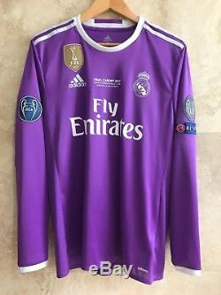 Cristiano Ronaldo 2017 UCL Final Cardiff Real Madrid match issue jersey shirt