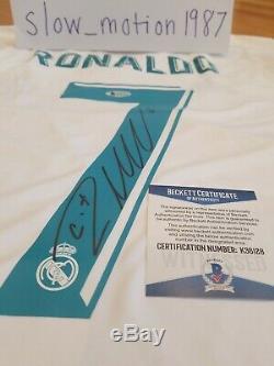 Cristiano Ronaldo Autographed Adidas 2017-18 Real Madrid Jersey with Beckett COA
