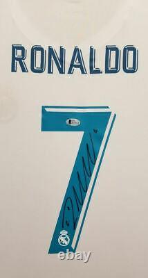 Cristiano Ronaldo Autographed Hand Signed Custom Framed Real Madrid Jersey BAS