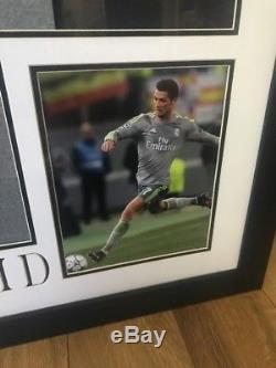 Cristiano Ronaldo Framed Signed Real Madrid Soccer Jersey Beckett