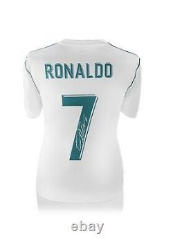 Cristiano Ronaldo Hand Signed Real Madrid Football Shirt