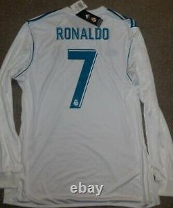 Cristiano Ronaldo Portugal 7 Real Madrid 2017-18 Adidas Ls Football Shirt Jersey
