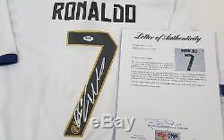Cristiano Ronaldo Portugal Phenom, Signed Real Madrid Jersey Psa Loa 6a70006