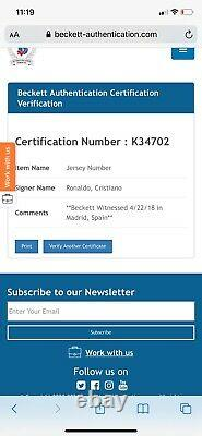Cristiano Ronaldo Real Madrid Jersey Autographed Fanatics Authenticated cert