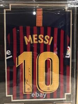 Cristiano Ronaldo Real Madrid & Lionel Messi Barcelona Hand Signed Shirt Jersey