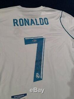 Cristiano Ronaldo Real Madrid Signed Autographed Jersey Beckett Bas Witness