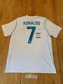 Cristiano Ronaldo Signed 2017-18 Real Madrid Soccer Jersey BAS Beckett COA