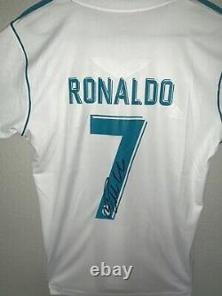 Cristiano Ronaldo Signed Adidas Real Madrid Soccer Jersey Authenticated With COA
