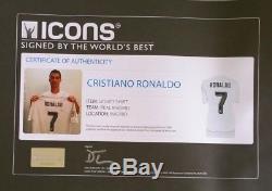 Cristiano Ronaldo Signed Adidas Real Madrid Soccer Jersey Icons