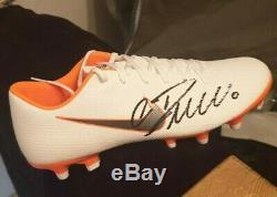 Cristiano Ronaldo Signed Autograph Football boot Juventus Real Madrid + COA