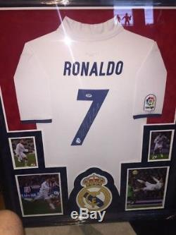 Cristiano Ronaldo Signed Autographed Real Madrid Soccer Jersey Shirt PSA Framed