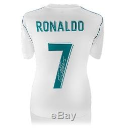 Cristiano Ronaldo Signed Real Madrid 2017/18 Shirt Number 7 Fan Style