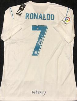 Cristiano Ronaldo Signed Real Madrid Adidas Jersey with COA
