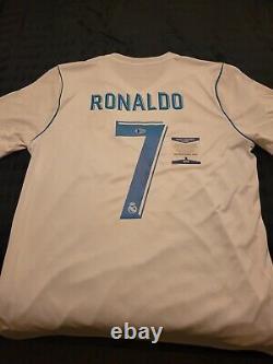 Cristiano Ronaldo Signed Real Madrid Jersey COA Soccer Football Autographed