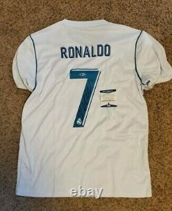 Cristiano Ronaldo Signed Real Madrid Jersey Soccer Football Beckett COA
