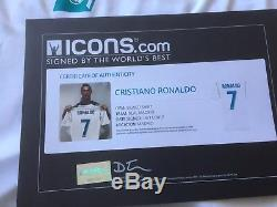 Cristiano Ronaldo Signed Real Madrid Shirt Jersey ICONS C. O. A