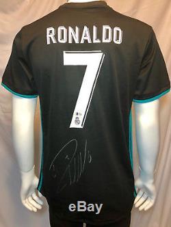 Cristiano Ronaldo Signed Real Madrid Soccer Jersey Auto BAS Beckett Blk