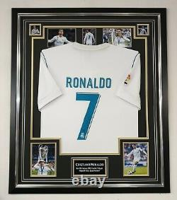 Cristiano Ronaldo Signed Shirt Real Madrid Autographed Jersey Display