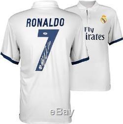 Cristiano Ronaldo Signed Soccer Jersey 2016-17 Real Madrid Auto Psa/dna