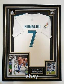 Cristiano Ronaldo of Real Madrid Autographed Signed Photo with Shirt Jersey