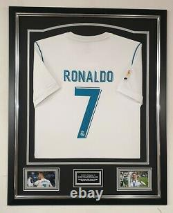Cristiano Ronaldo of Real Madrid Signed Shirt Autographed Jersey Display