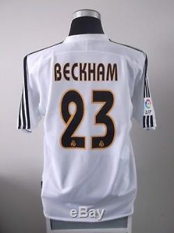 David BECKHAM #23 BNWT Real Madrid Home Football Shirt Jersey 2003/04 (L)