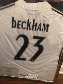 David Beckham Signed Real Madrid Soccer Jersey + certificate of authenticity