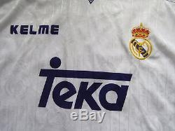 Davor Suker #9 REAL MADRID RETRO home shirt jersey KELME 1996-1997 adult SIZE XL