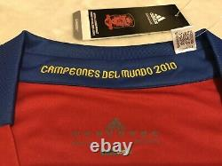 España Xavi Soccer Jersey Campeones Del Mundo 2010 Real Madrid Barcelona Mexico