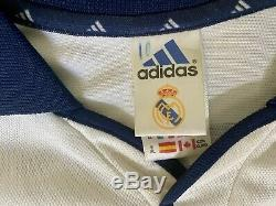Figo, 2000-01 Real Madrid Home CL LS Match Issue Un Worn Shirt Size XL Signed
