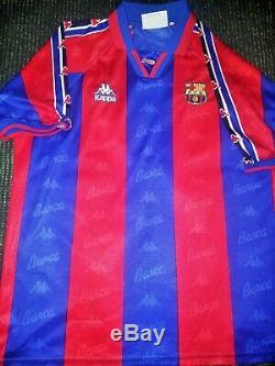 Figo Kappa Barcelona PLAYER ISSUE Jersey 1996 1997 Shirt Real Madrid Camiseta XL