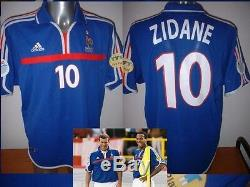 France Adidas XL 2000 Zidane Football Soccer Shirt Jersey Vintage Real Madrid H