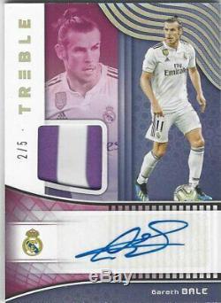 Gareth Bale Real Madrid Panini Treble 2018/19 Jersey Autograph #2/5