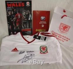 Gareth Bale Signed Wales Shirt v Andorra + Certificate, Real Madrid, Spurs