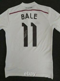 Gareth Bale Tottenham signed 2014/15 Real Madrid Shirt AFTAL RD