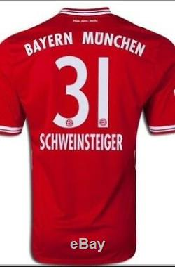 Germany Schweinsteiger S, M, L XL bayern Munich Vs Real Madrid Shirt Trikot jersey