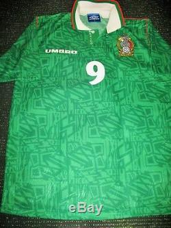HUGO SANCHEZ Mexico Umbro 1994 WORLD CUP Jersey Shirt Camiseta Real Madrid XL