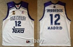 Herreros (Real Madrid) ACB Liga Trikot Camiseta Jersey Maillot Maglia Canotta
