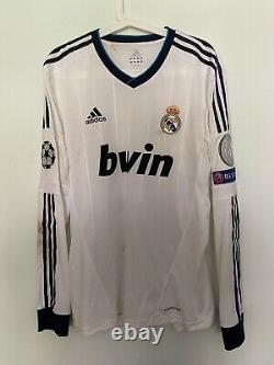 Higuain, Real Madrid 2-0 Dortmund 2013 Ucl Semifinal Match Worn Shirt Photomatch
