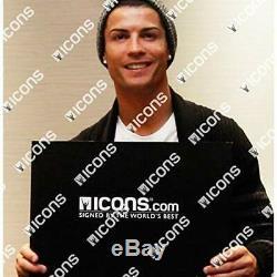 Icons Cristiano Ronaldo Autographed 2017-18 Real Madrid Jersey Includes COA