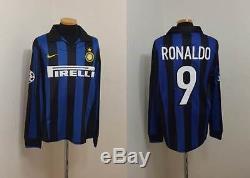Inter Milan Shirt Jersey Maglia Ronaldo Brazil Barcelona Real Madrid Ls 9989f51f0