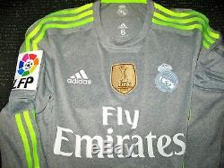 Isco Real Madrid 2015 2016 MATCH ISSUE Jersey Spain Camiseta Maglia Shirt M 6