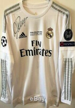 Jersey Real Madrid 7 Cristiano Ronaldo Final Champions League 2016 Signed Player