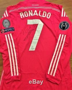 Jersey Real Madrid CR7 #7 Cristiano Ronaldo Match Worn & Autographed by Player