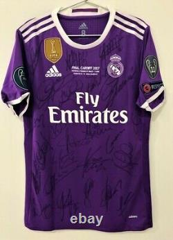 Jersey Real Madrid Final Champions 2016 / 2017 #9 Benzema Autographed by Players